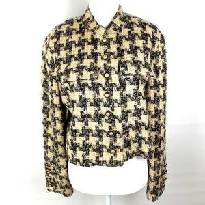 Carlisle Vintage Tweed Houndstooth Button Jacket